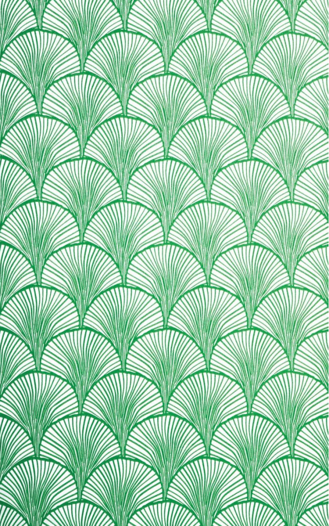 Wallpaper by Mimou in Nippon Emerald // Lovely in hallway & powder rooms.